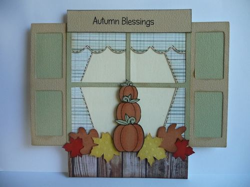 Autumn Blessing  Jeri Thomas - Halloween trio and Window sill shaped card