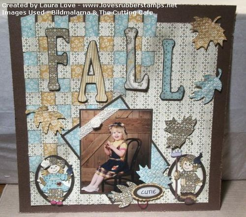 Fall  Laura Love  - Fall word shaped card