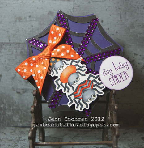 Itsy bitsy SPIDER  Jenn Cochran - Halloween trio and Spiderweb shaped card