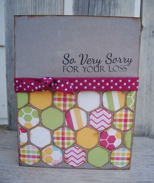 So Veru Sorru for your loss  Debbie Fisher - Hexagon shaped card