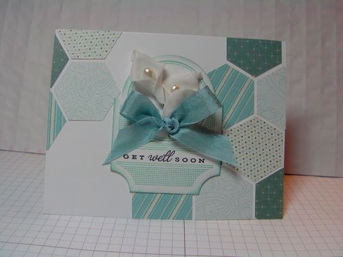 Get Well Soon  Kimberly Morrow - Hexagon shaped card