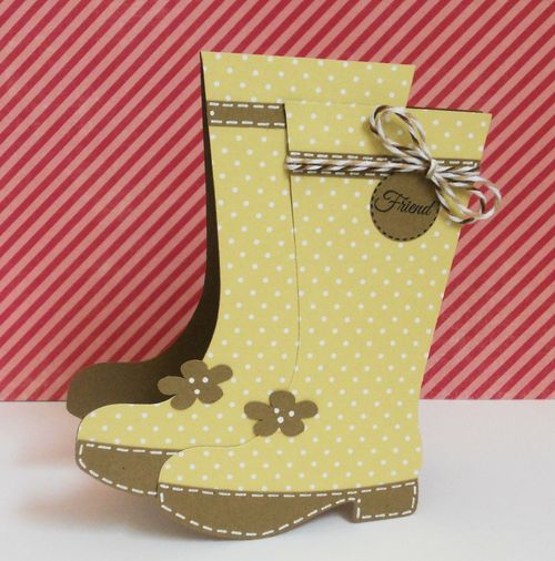 Friend  Ashley Townsend - Rain boots shaped card