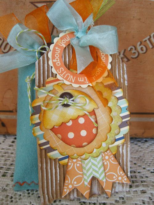 I'm nuts about you  Lori Hairston - Acorn Shaped card