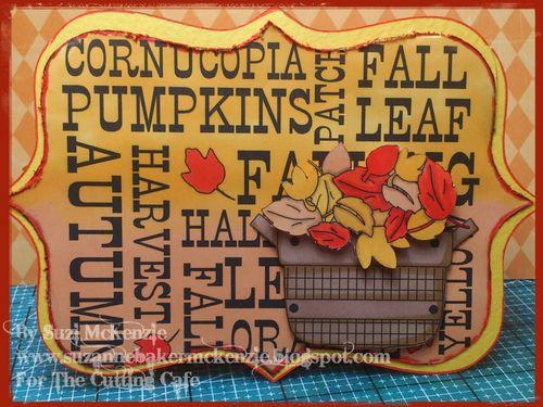 Fall card  Suzi McKenzie - Autumn days and frame shaped card