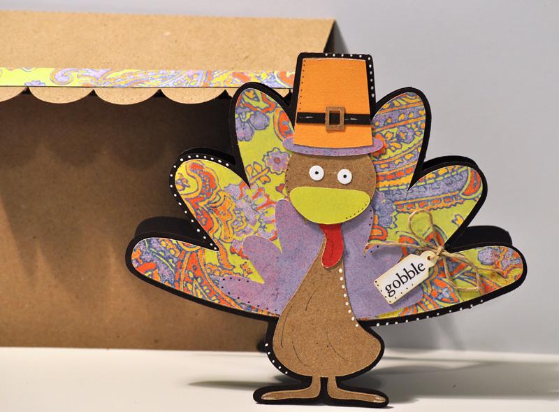 Turkey shaped card