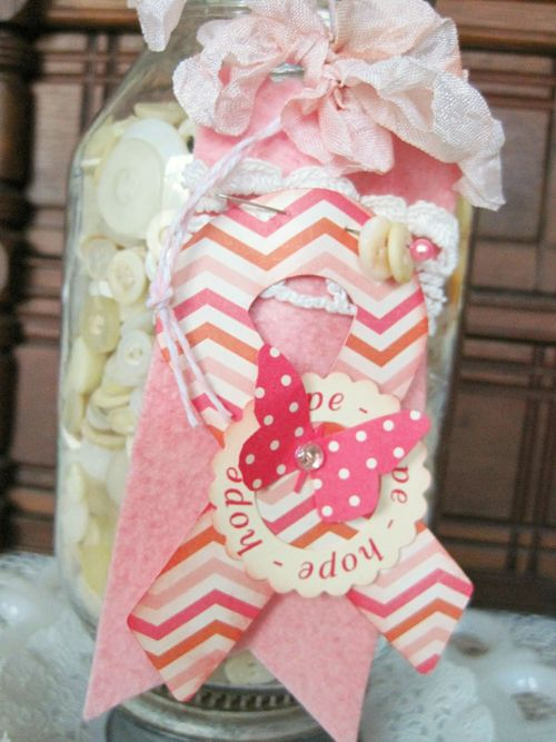 HOPE Lori Hairston - Ribbon shaped card