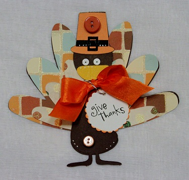 Give thanks  Penny Shurberg - Turkey shaped card