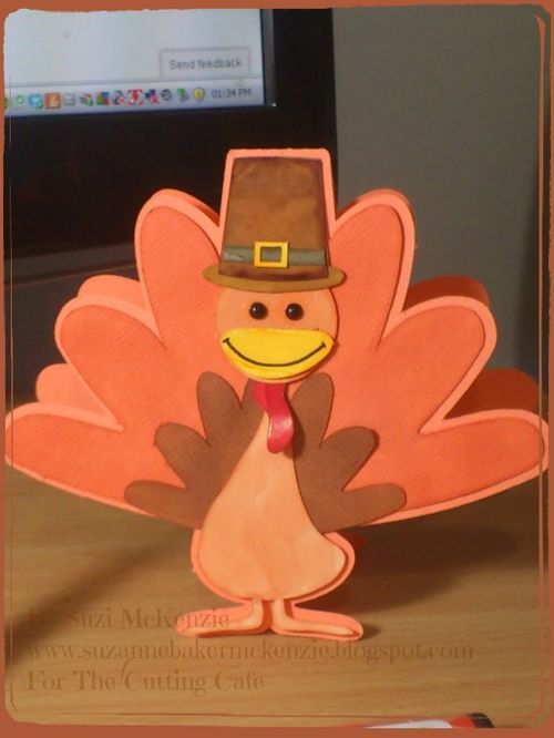 Turkey shaped card  Suzi Mckenzie - Turkey shaped card