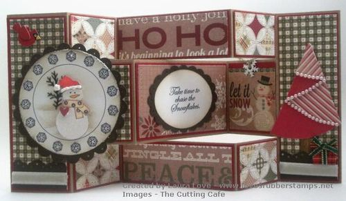 Snowflake card  Laura Love - Snowflake huge circle set