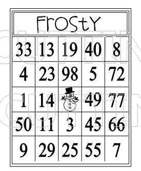 picture regarding Winter Bingo Cards Free Printable titled The Chopping Restaurant: Winter season BINGO CARD PRINTABLE Preset