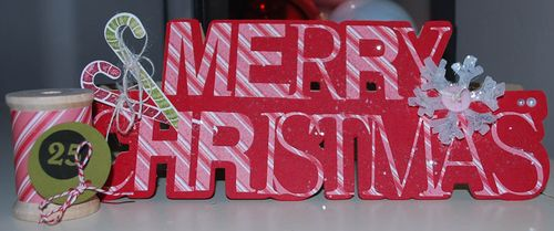Christmas Krista Norman christmas word shaped card