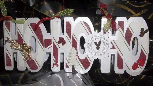 HOHOHO Doris Molina - hohoho word shaped card
