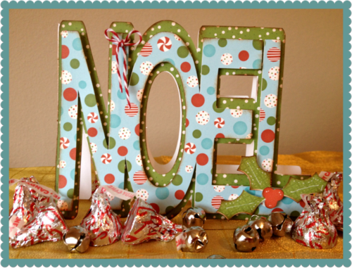 Noel  Debbie Crowder - Noel word shaped card