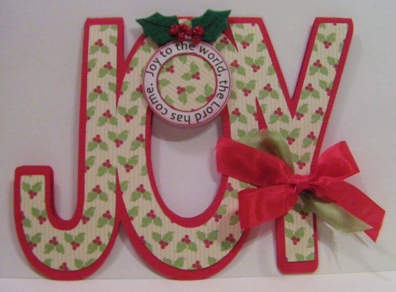 Joy  Rhonda Zmikly - Joy word shaped card