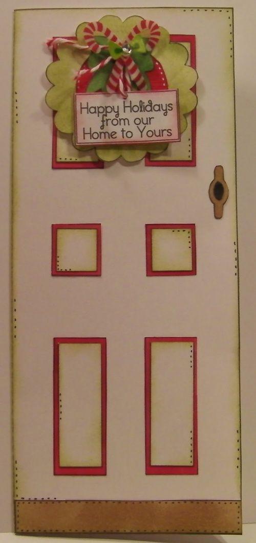 Happy holidays  Rhonda Zmikly - Front door shaped card set