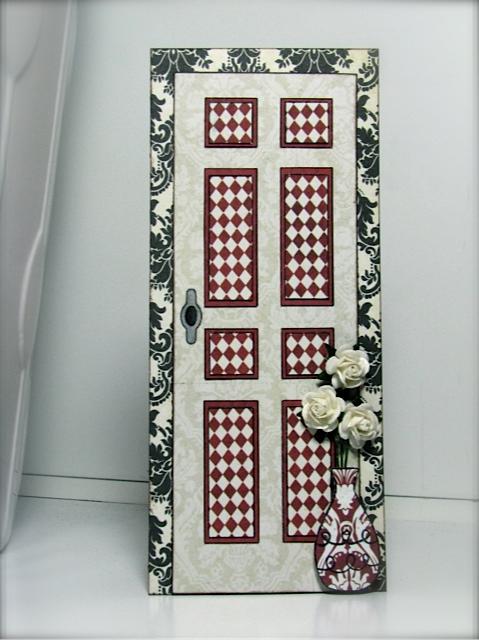 Door card Liliya Rytsar - front door shaped card