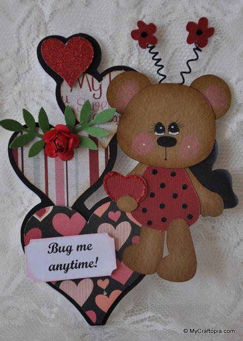 Bug me anytime  Leslie Foley - Heart shaped card set 2