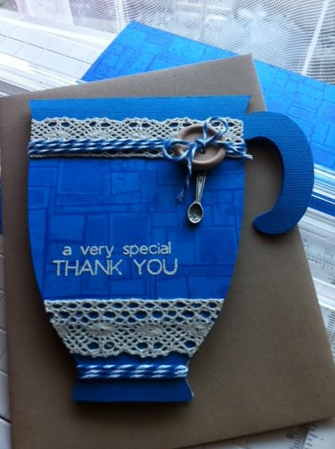A very special THANK YOU  Liliya Rytsar - Coffee cup shaped card