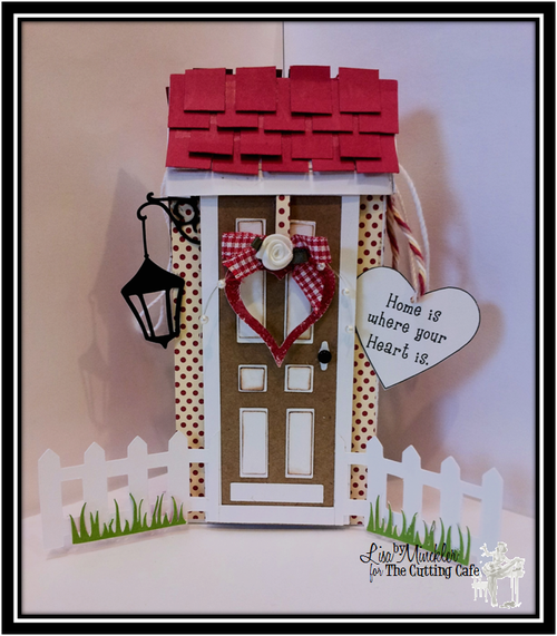 Home is where your heart is  Lisa Minckler - heart tic tac box and front door shaped card