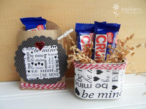 Be mine set Angi Barrs - Valentines mini sentiments background set