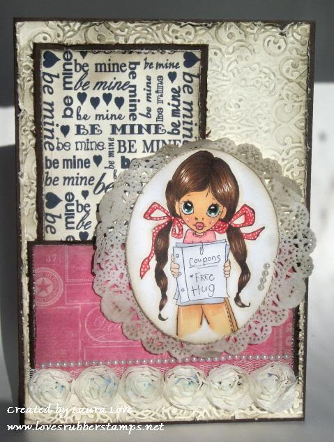 Free hugs  Laura Love - Valentines mini sentiments background set