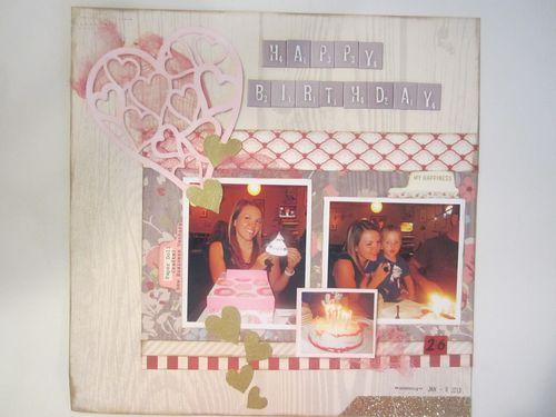 Happy Birthday Karyn Halter - Heart laced shaped card set
