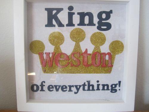 KING of everything  Karyn Halter - Crown shaped card