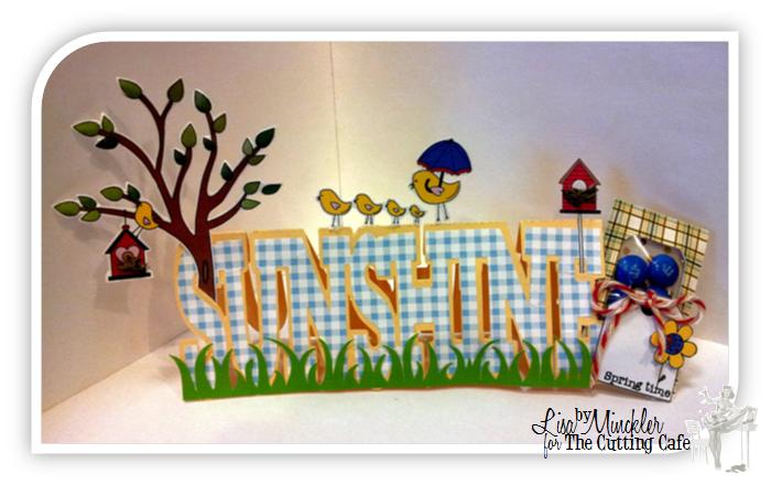Sunshine Lisa Minckler - Sunshine word shaped card and one spring day set