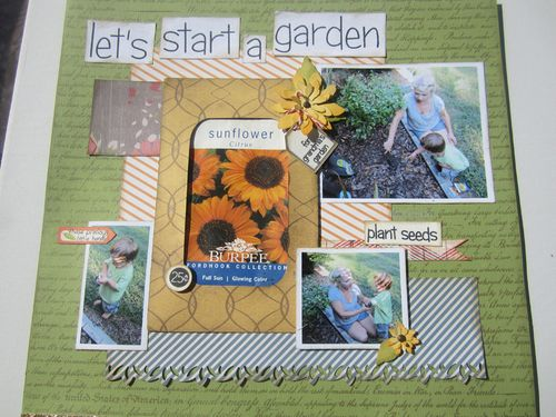 Lets start a garden  Karyn Halter - Seed Packet holder
