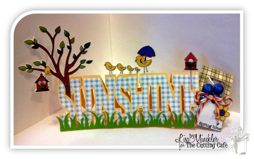 Sunshine Lisa Minckler - Sunshine word shaped card and one spring day set