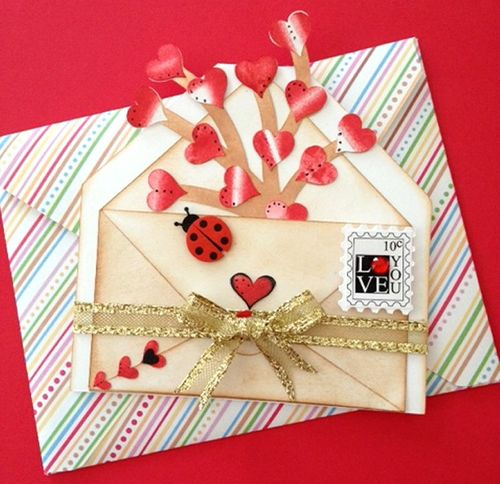 Love  Misty Mogan - Heart envelope shaped card