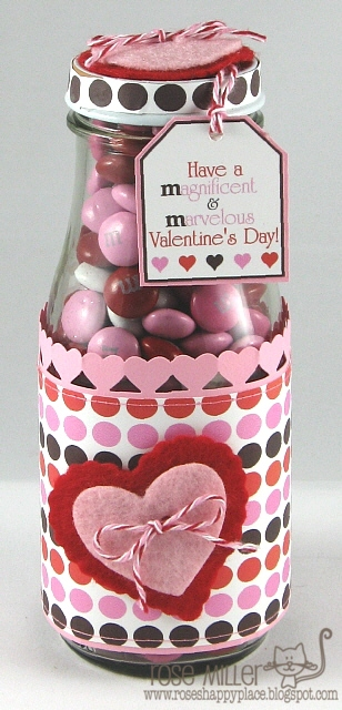 Valentine M&M candy jar  Rose Miller - M&M Candy sentiment set