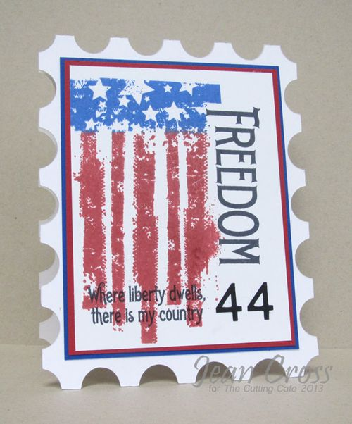 Freedom  Jean Cross - Postage stamp shaped card