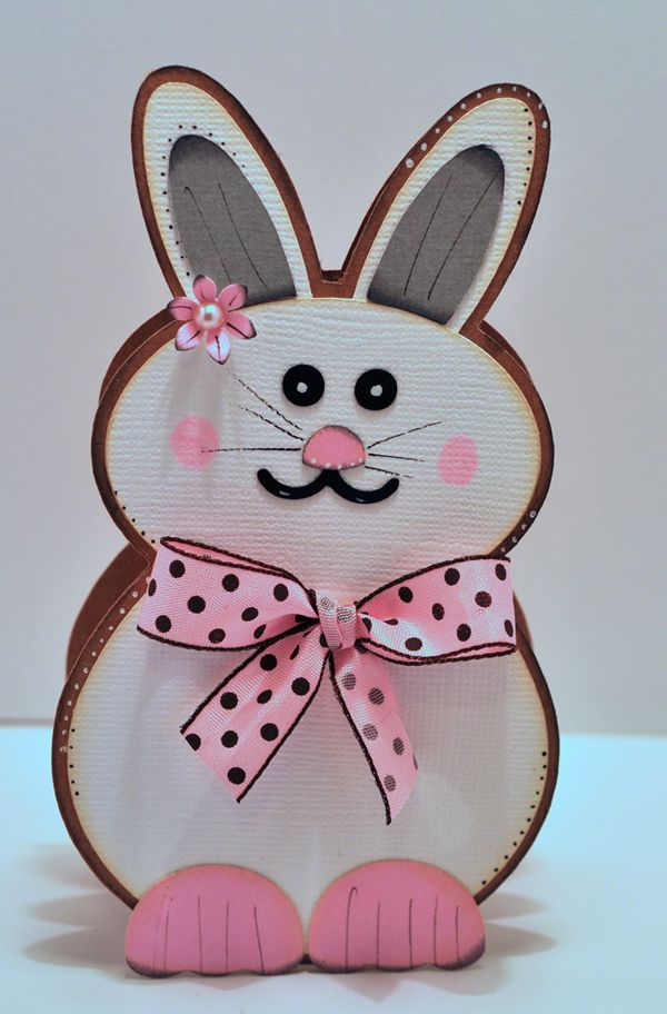 the cutting cafe easter bunny shaped card template cutting file
