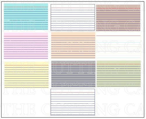 The cutting cafe 39 colored printable stamps for Index card template for pages