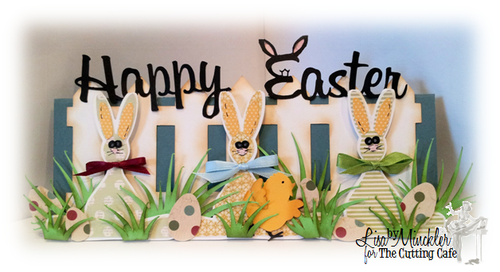 Happy Easter - Lisa Minckler - bunny trio shaped card