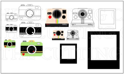 The Cutting Cafe': Polaroid And Camera Fun Template And Printable Set