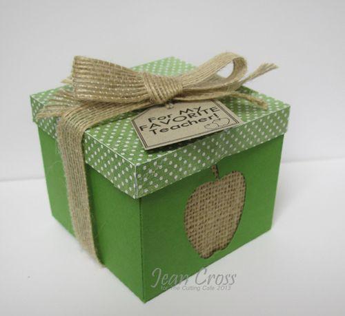 For My Favorite Teacher - Jean Cross - Apple Treat box