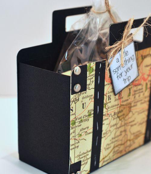 Suitcase treat box side