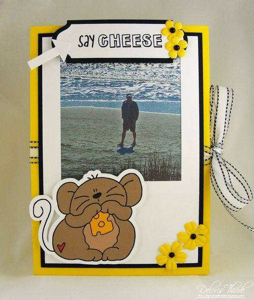 Say cheese - Deloris Thiede - Polaroid and camera fun and greeting card folder