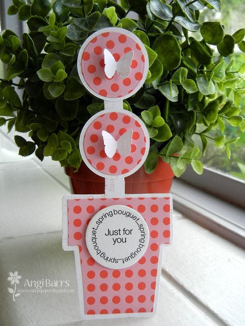 Just for you - Angi Barrs - Tall flower shaped card