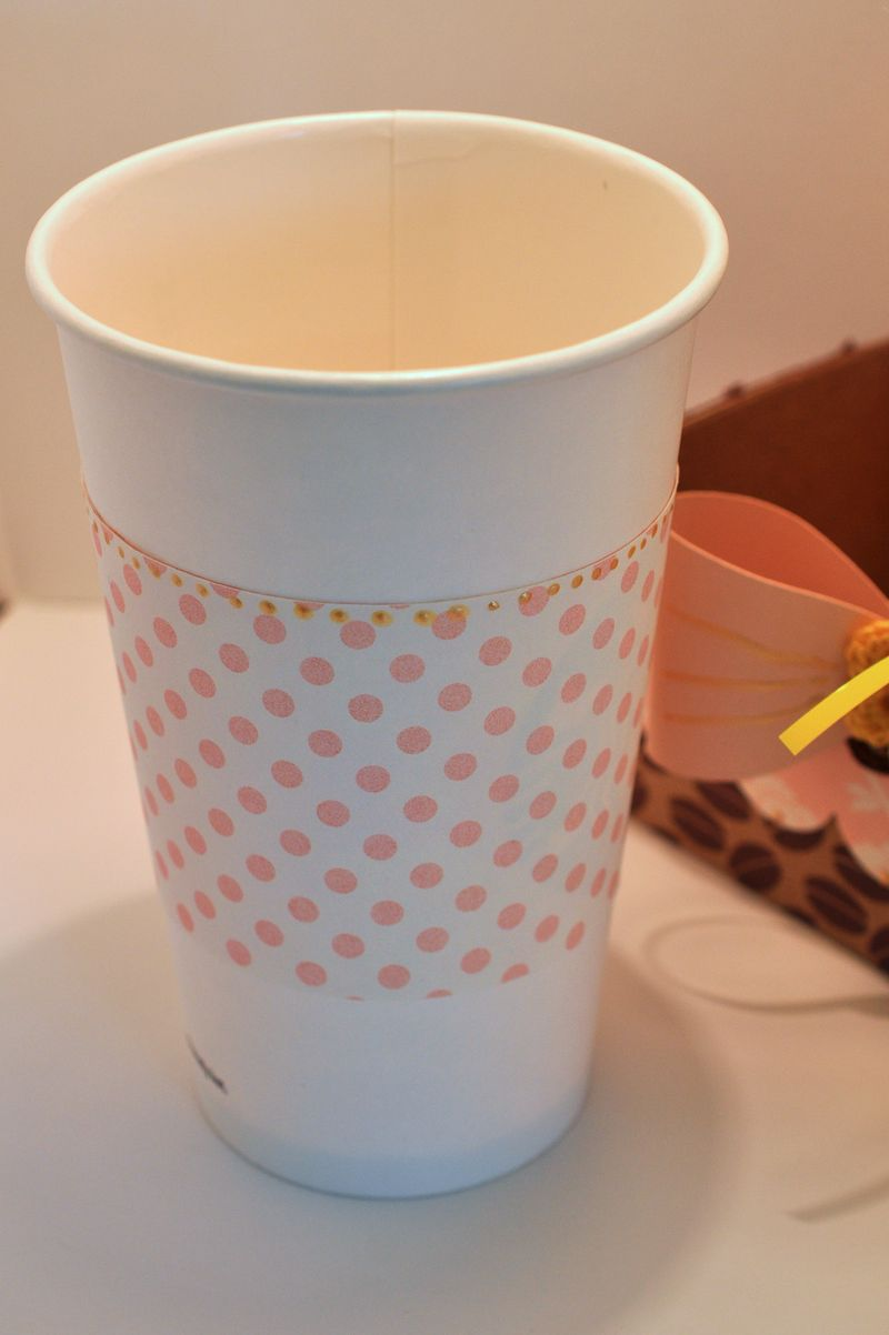Cup with wrap