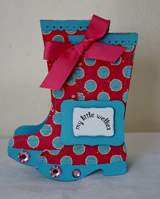 My little Wellies  Penny Shurberg - Rain boots shaped card