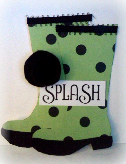 SPLASH  Jovita Torres - Rain boot shaped card