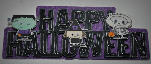 Happy halloween Leslie Foley - Happy halloween word shaped card
