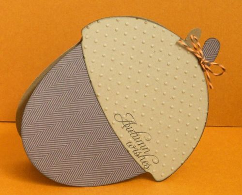 Autumn Wishes Ashley Townsend - Acorn shaped card