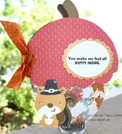 You make me feel all NUTTY INSIDE  Lezlye Lauterbach - acorn shaped card