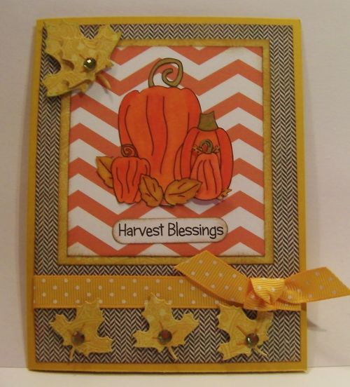 Harvest Blessings  Rhonda Zmikly - Halloween and fall chevron backgrounds, Welcome Fall set