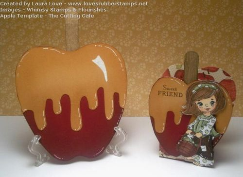 Sweet friend  Laura Love - Apple treat box and apple shaped card