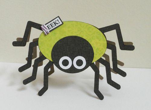 Eek  Ashley Townsend - Spiderweb shaped card